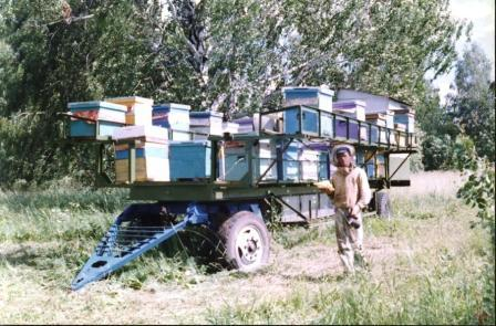 Передвижная пчеловодческая платформа